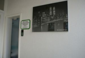 Eingangsbereich der Zahnarztpraxis Meiser in Osterode