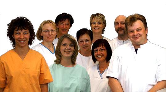 Mitarbeiter der Zahnarztpraxis Meiser